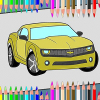 American Cars Coloring Book