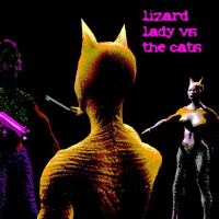 Lizard Lady vs the Cats