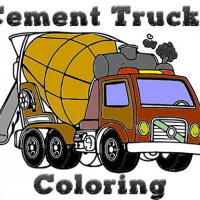 Cement Trucks Coloring